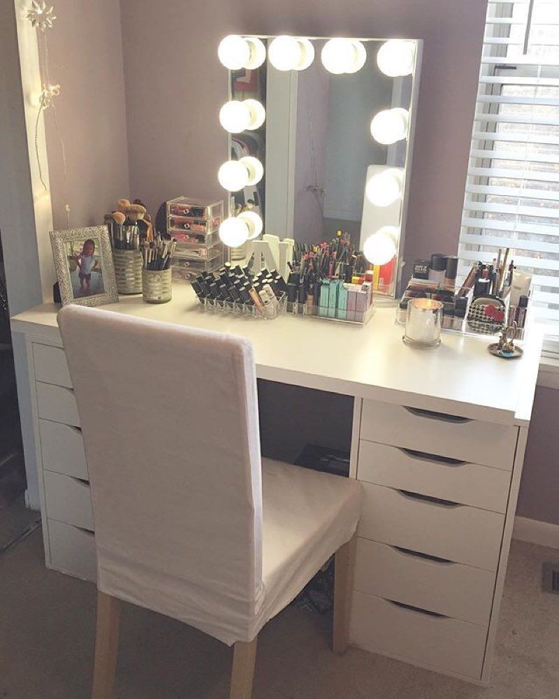 Simple White Vanity Mirror Ideas Beauty Room Vanity Makeup Room Decor Copper Room Decor
