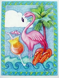 pinterest cards with flamingos - Google-Suche