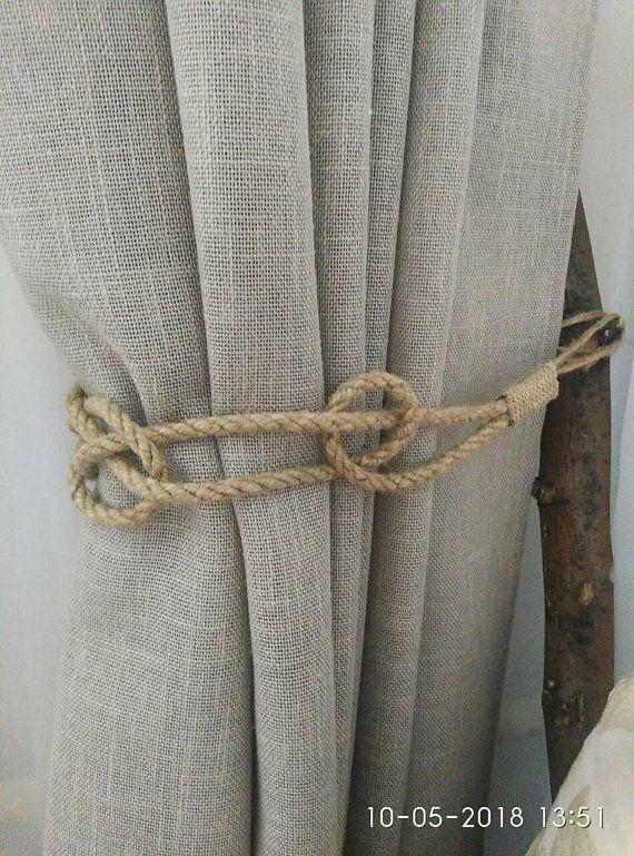 Nautical Curtain Tie Backs Rope Curtain Tie Backs Jute Rope