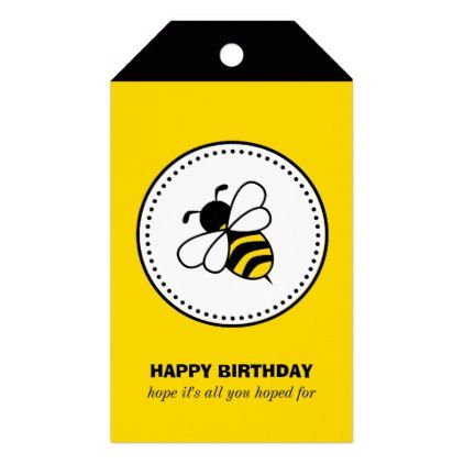 Bumble Bee Gift Tags