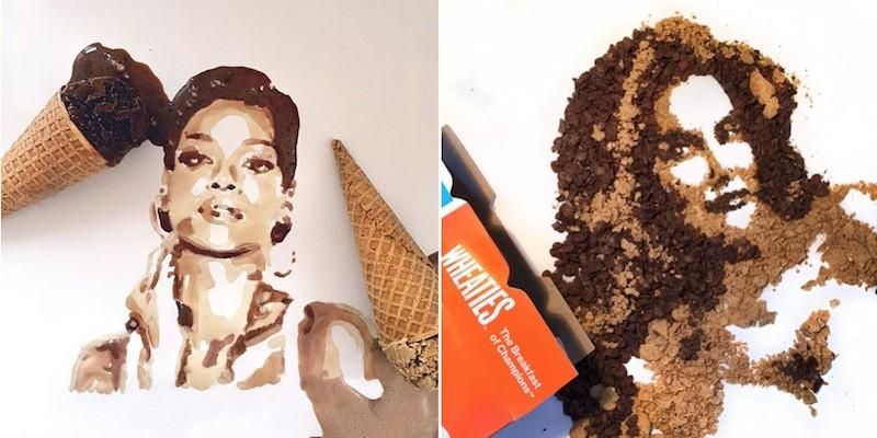 Artist makes absolutely incredible celebrity portraits using only food: http://elitedai.ly/1h8xN7a