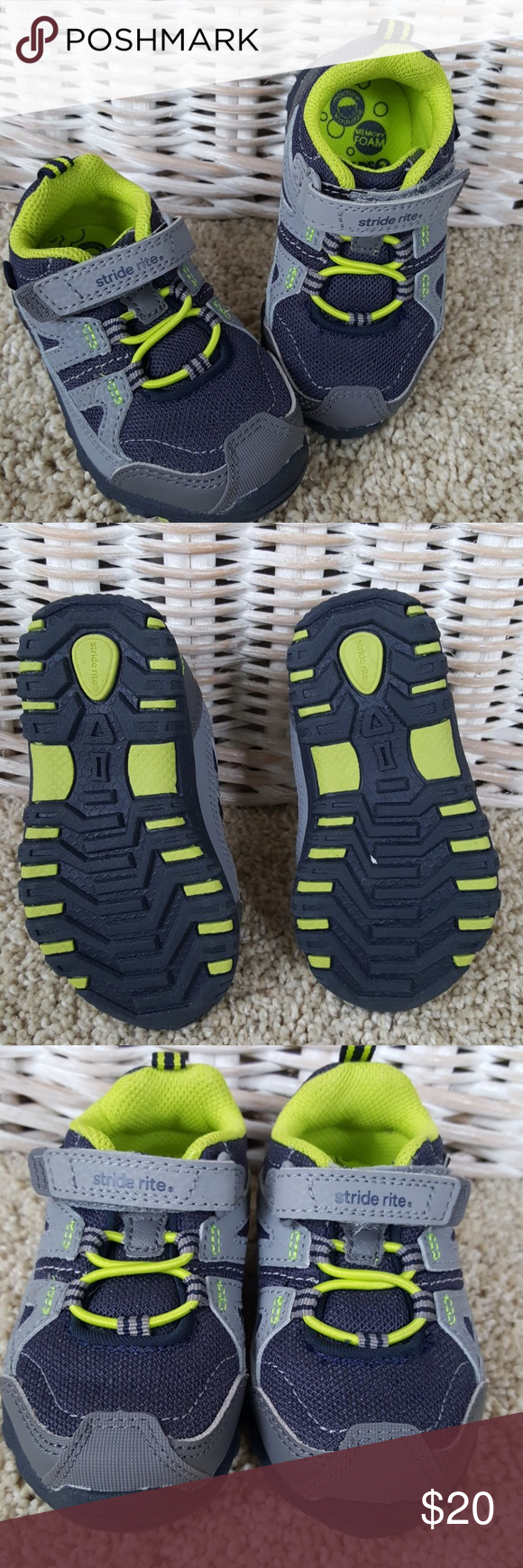 Stride Rite Slip On Sneaker Size 5.5 W NEW New without box toddler Stride Rite Made to Play. Memory foam insole. Leather uppers. 5.5 Wide. Easy on with velcro closure. From a smoke-free home. Stride Rite Shoes Sneakers