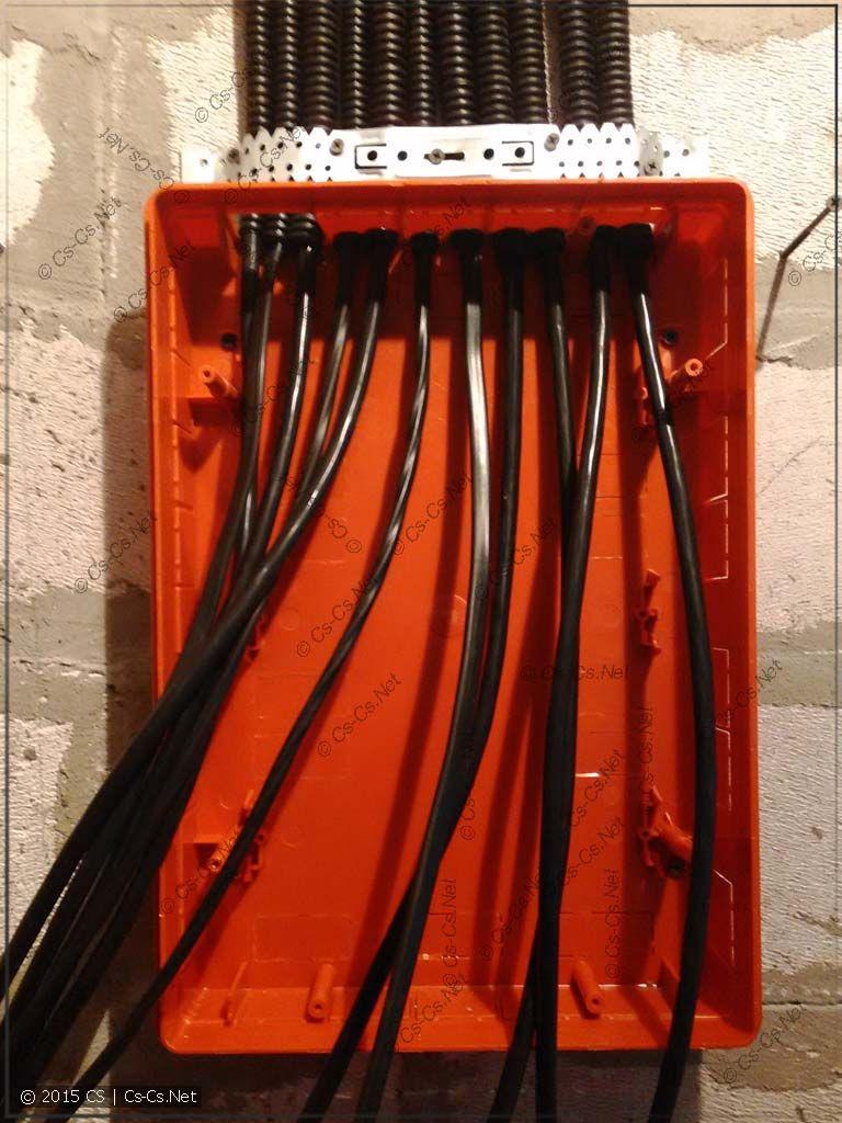 Придурочный трёхфазный щиток: разводка кабелей