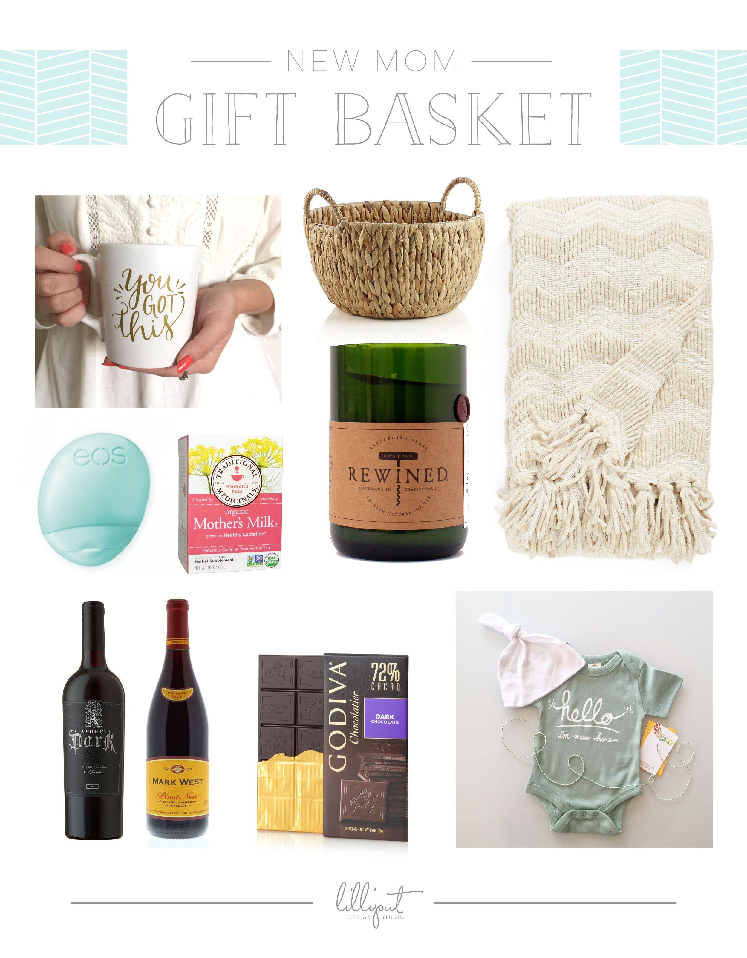 Diy new mom gift basket new mom gift basket baby girl