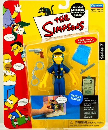 Series Simpsons The Figure 7 Action Officer Marge kXPOiZuT