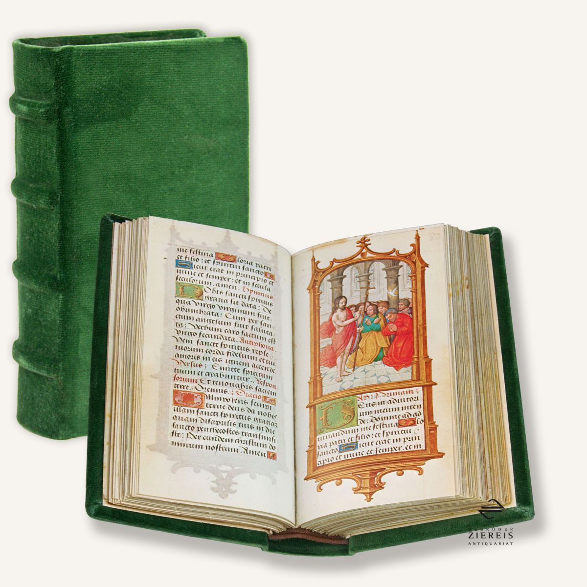 In the time between 1516 and 1519, when the young Charles was not yet Emperor but already King of Spain, he received a prayerbook as a gift. He used it often, which is documented in signs of use which can still be seen today. In his magnificence worthy of a future Emperor this real gem received a place in the library of Emperor Charles V. Today the manuscript is kept as Cod. Vindobonensis 1859 in the Österreichische Nationalbibliothek in Vienna.