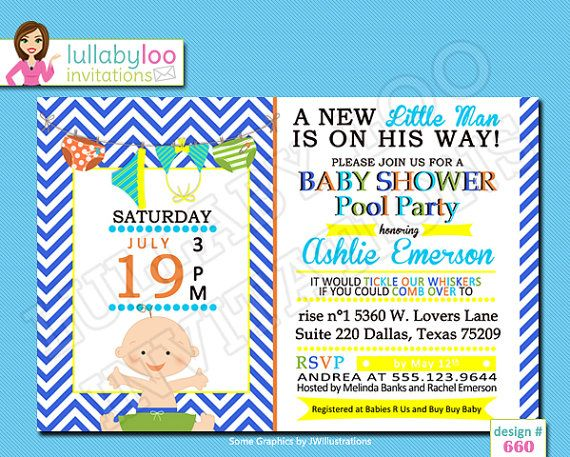 Baby Shower Pool Party Ideas swimming pool outdoor baby shower decoration Pool Party Baby Shower Invitations 660 Set Of 12 By Lullabyloo 1800