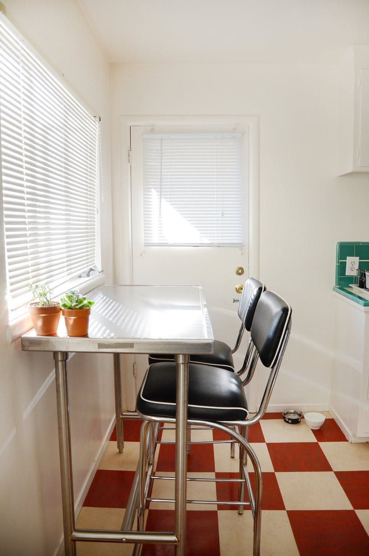 Annie S Harmonious Oakland Studio Minimalist Dining Room Apartment Therapy Small Spaces Small Kitchen Storage