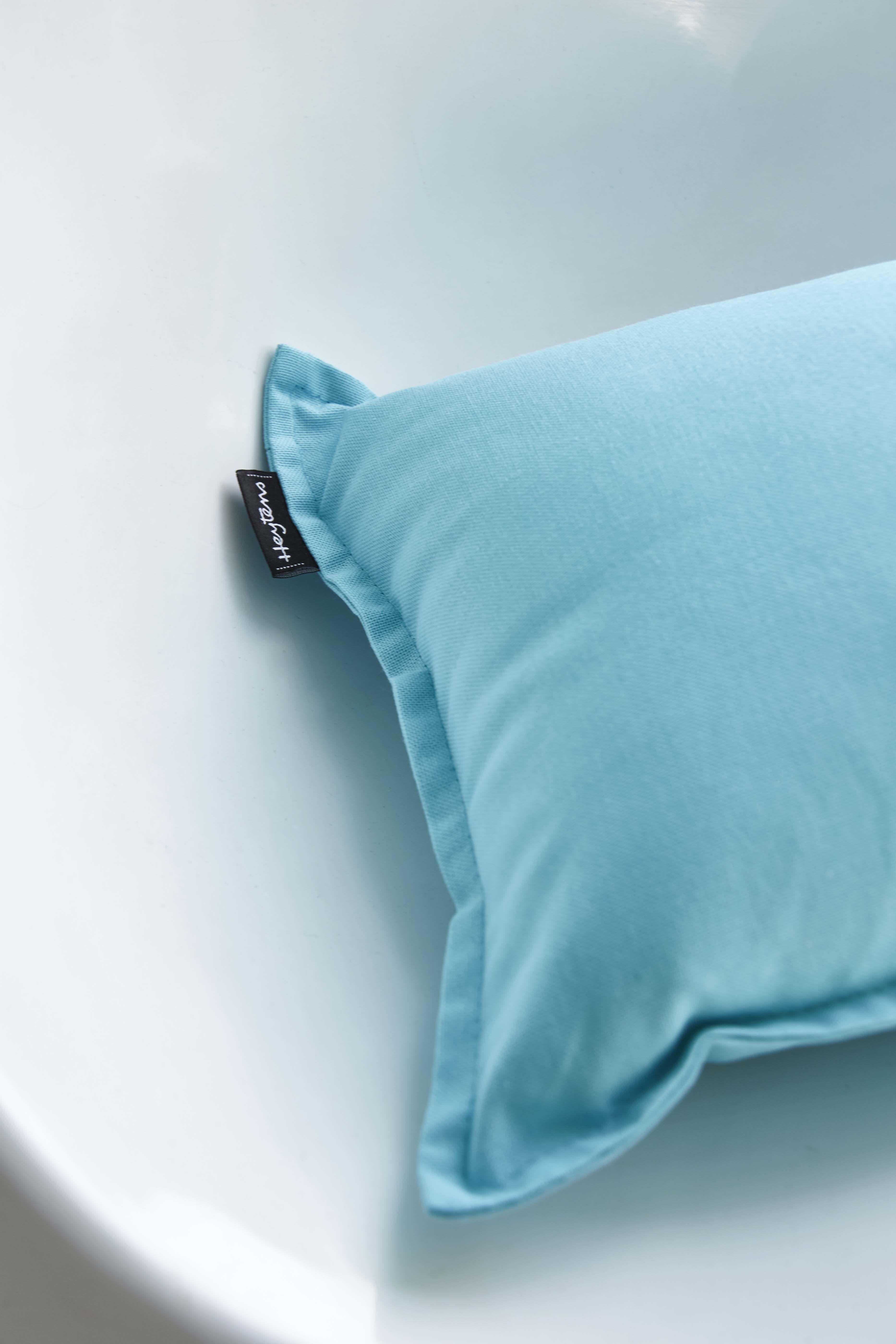Focus coussin en tissu Uno Turquoise - Collection Heytens | Le Tissu ...