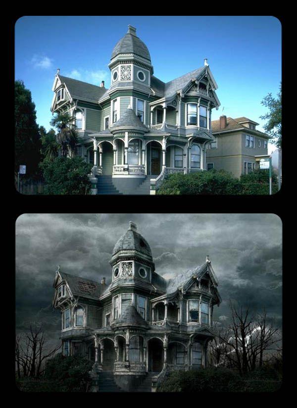 Photoshop a Haunted House Digital Art Tutorials Pinterest - halloween haunted house ideas