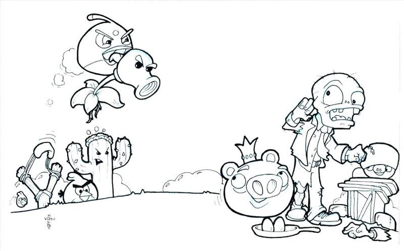 Free Plants Vs Zombies Coloring Pages Plants Vs Zombies Coloring Pages Coloring Pages To Print