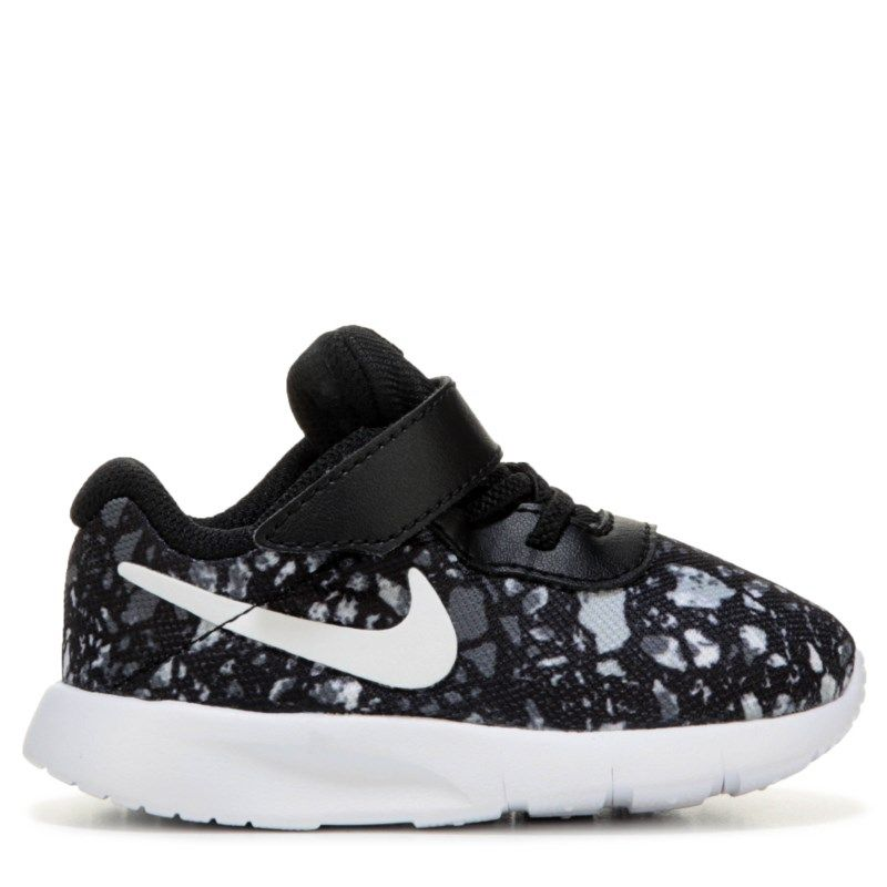 41af587f855b3a Nike Kids  Tanjun Sneaker Toddler Shoes (Black White Print)