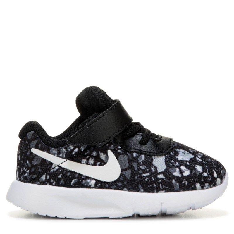 new arrival 679e3 a23d4 Nike Kids  Tanjun Sneaker Toddler Shoes (Black White Print)
