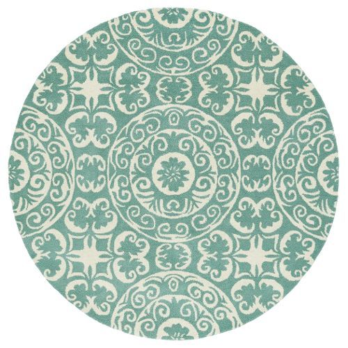 10 Round Mint Green And Ivory Area Rug Evolution Area Rugs Kaleen Round Area Rugs