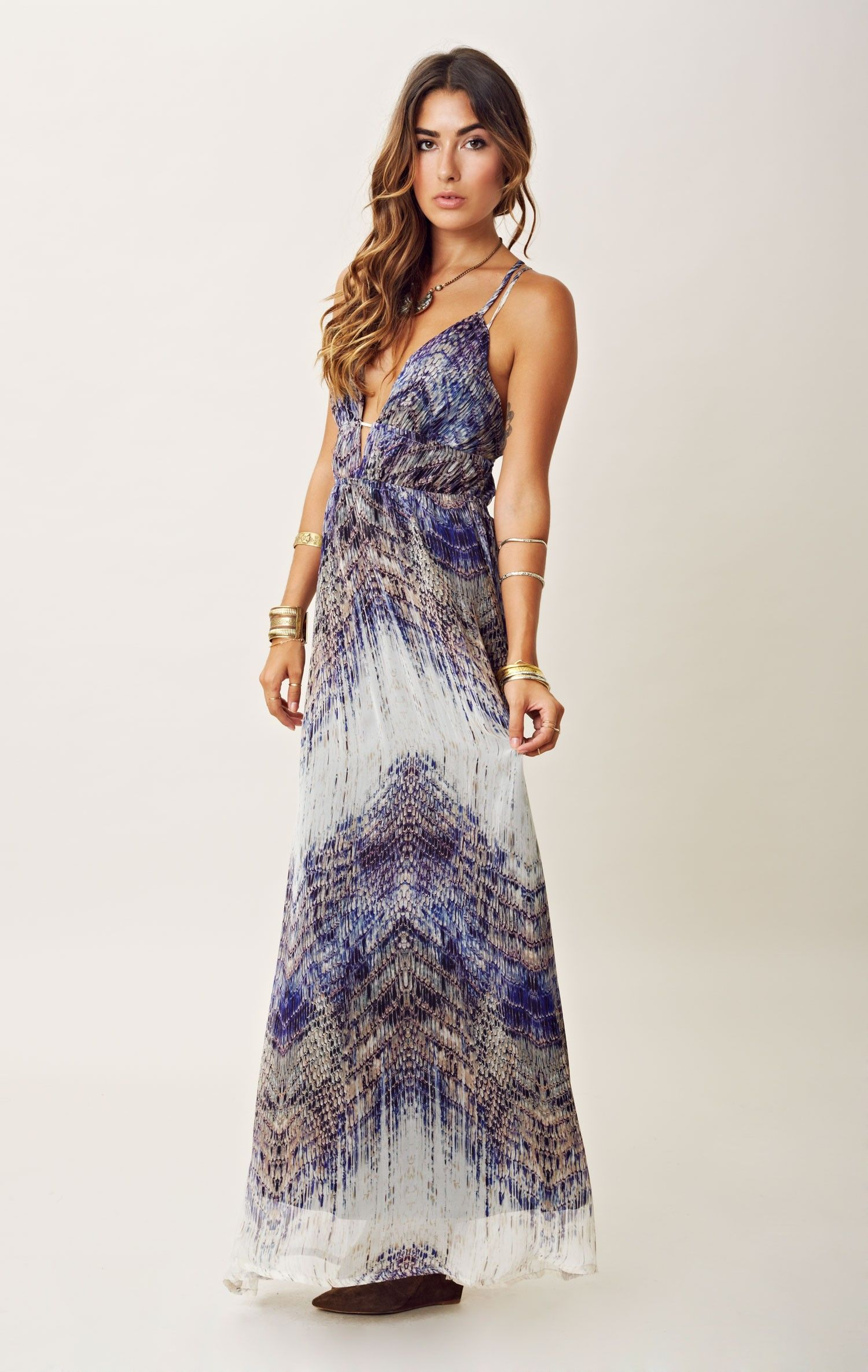 Annaunaki silk printed maxi dress fashionlove