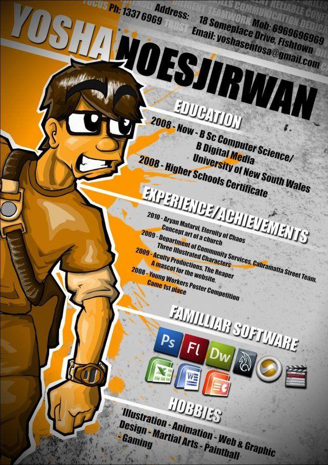 Yosha Noesjirwan RESUME Pinterest Resume and Eyes - animation resume