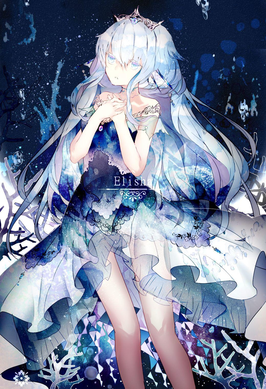 Anime Girl White Hair Blue Eyes Anime Pinterest Anime Art