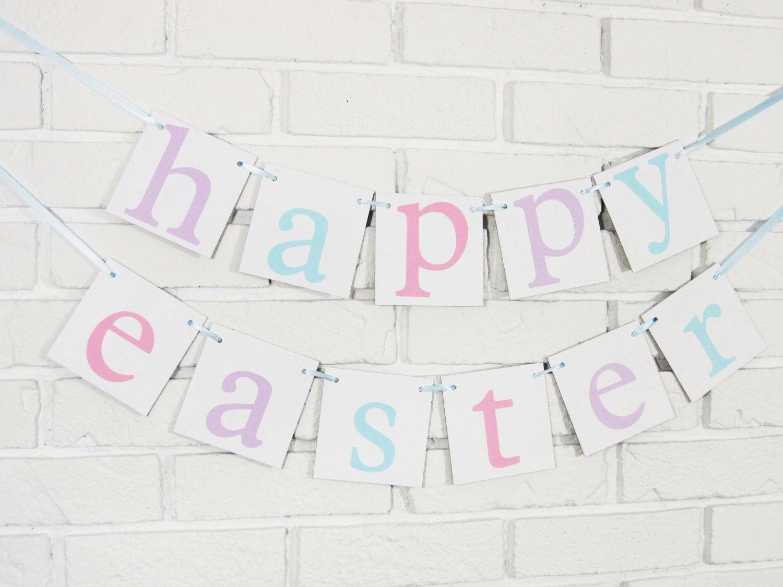 Happy Easter banner spring decor easter decor Easter sign spring sign spring decorations home decor sign mantle garlandspring banner (24.00 USD) by CelebratingTogether