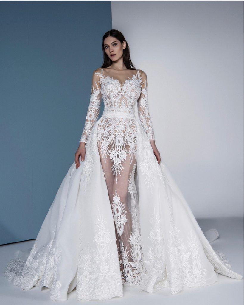 9a1bdb35b49af Eslieb High-end Free Shipping Lace Wedding Dress 2019 A Line Long ...