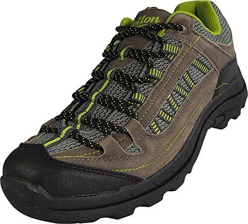 053531553df Norty Mens Cotton Traders Hiking Trail Walking Sneaker Grey Tan Lime ...