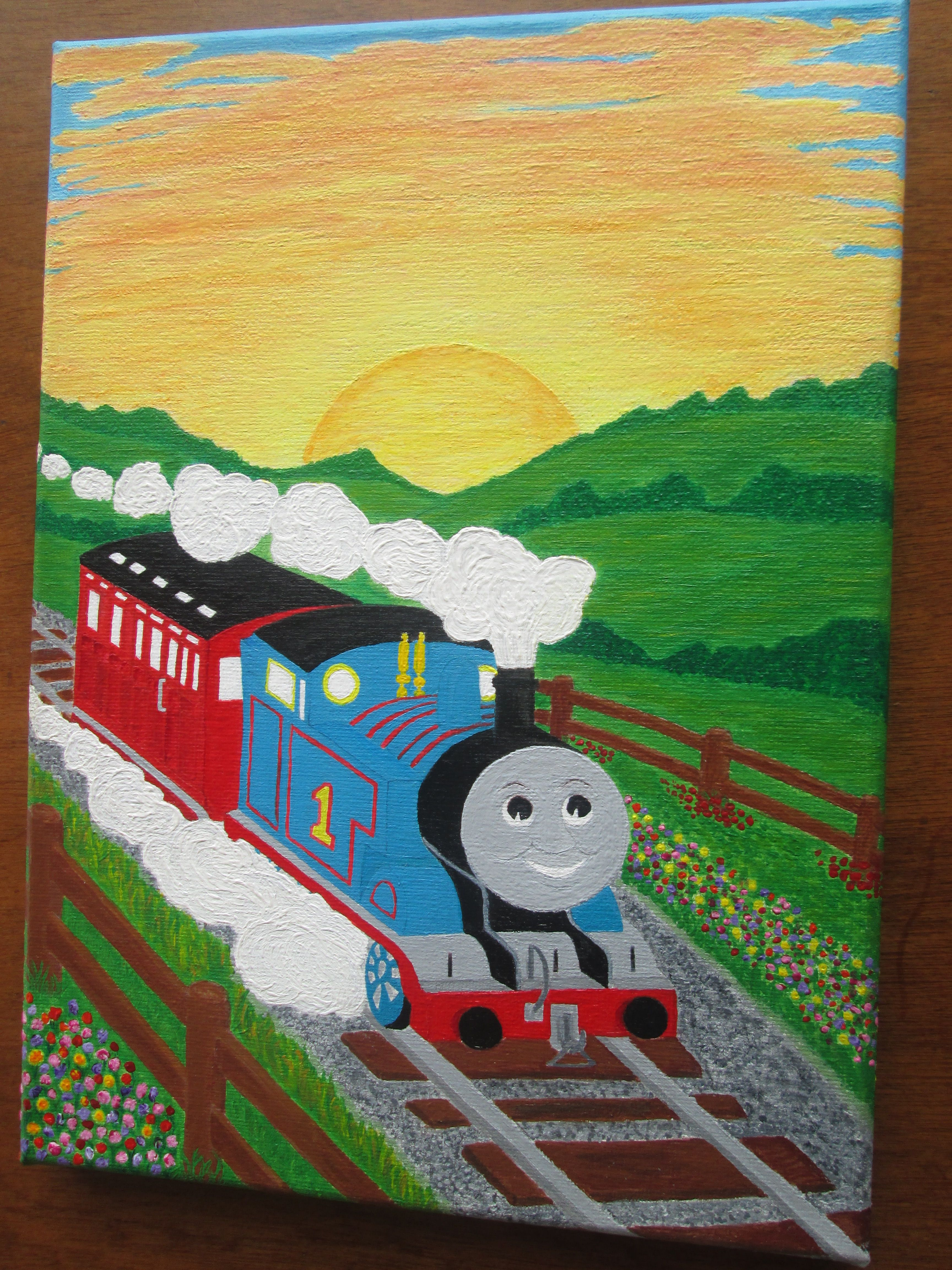 """Canvas Prints 9/"""" square pictures - Boys Bedroom 015 THOMAS THE TANK ENGINE"""
