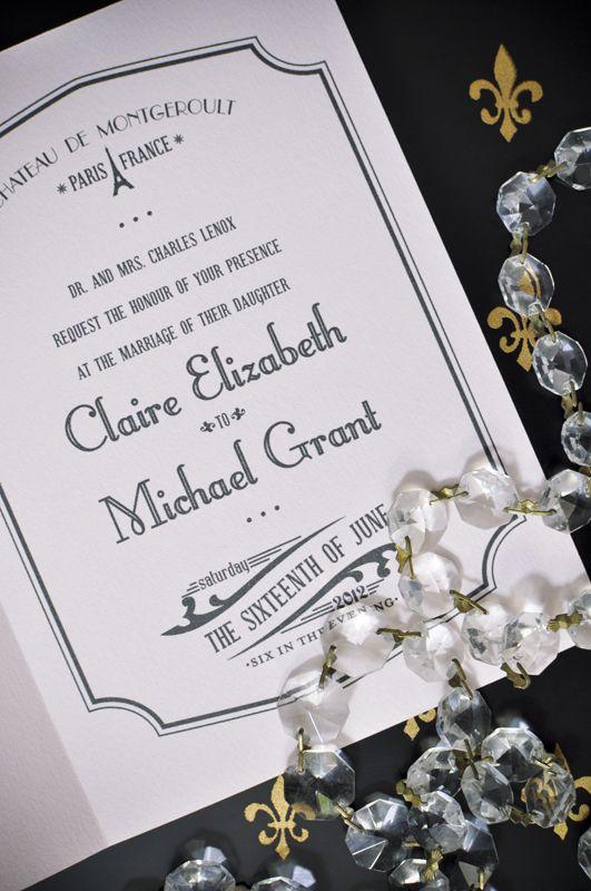 Paris Wedding Invitations Wedding Ideas