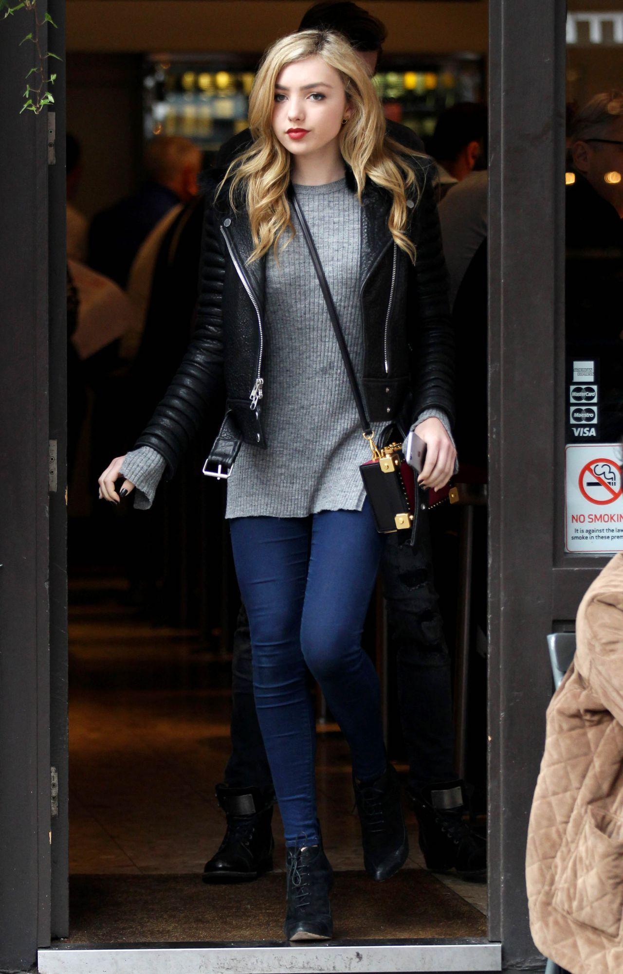 peyton list casual style – out in london, november 2015 | peyton