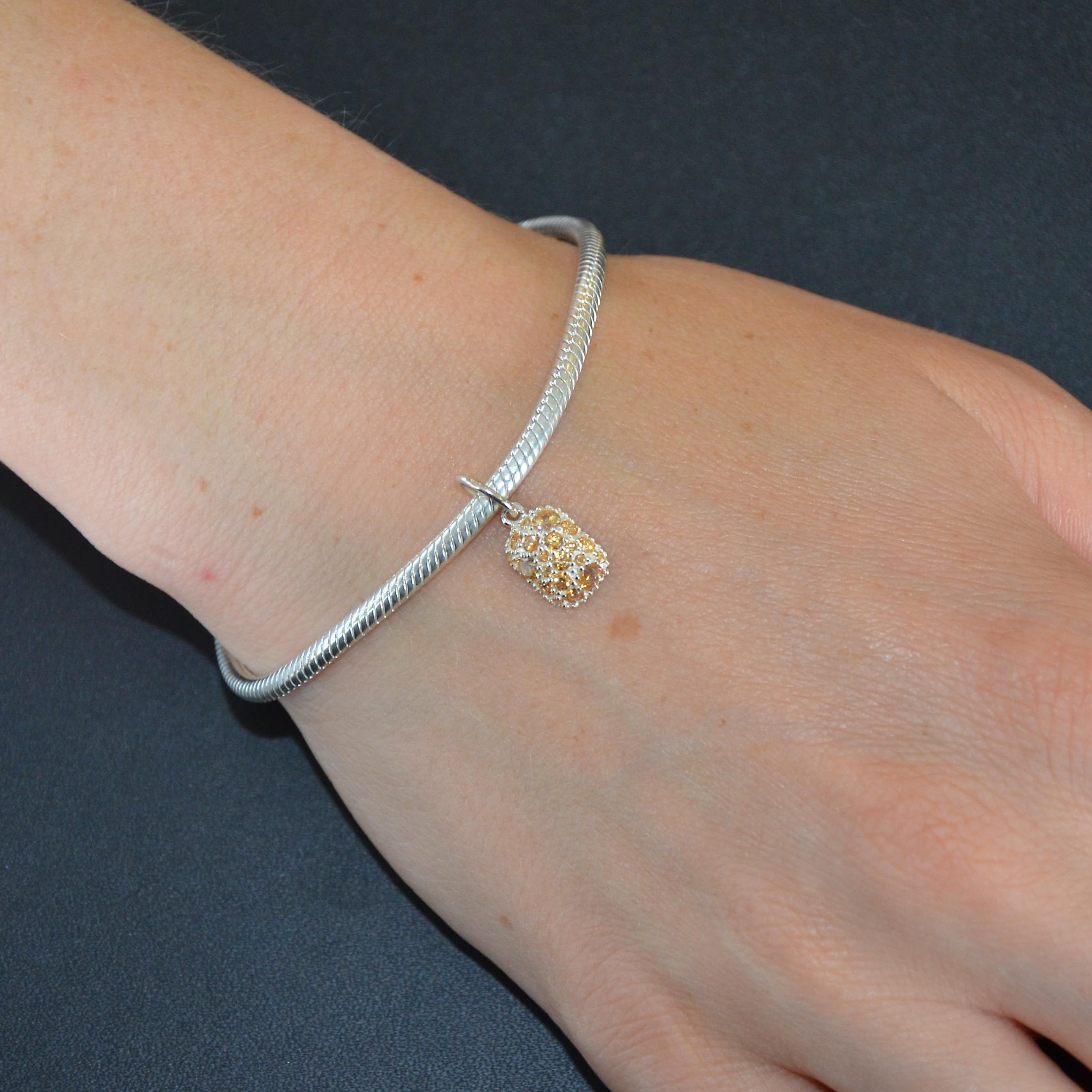 3502f43cf7ae5 This beautiful oval snap bracelet from the Chamilia collection is ...