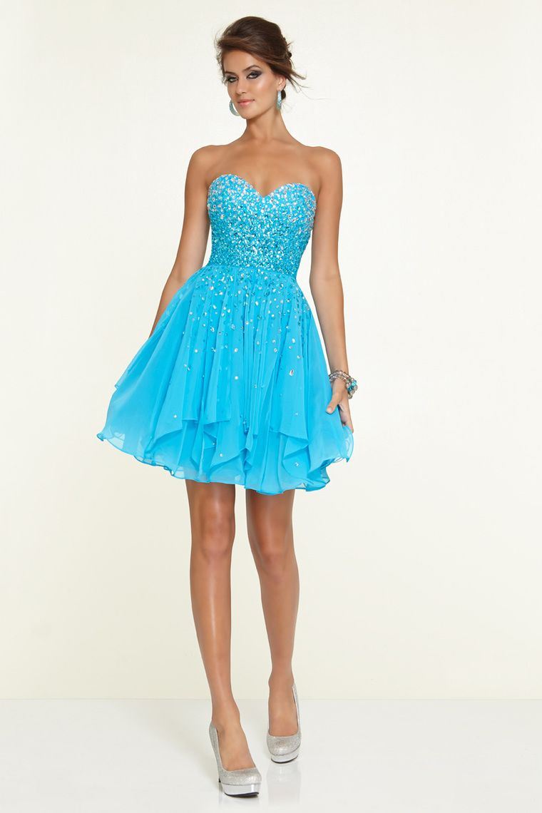 sweetheart a line shortmini prom dress chiffon with beads and