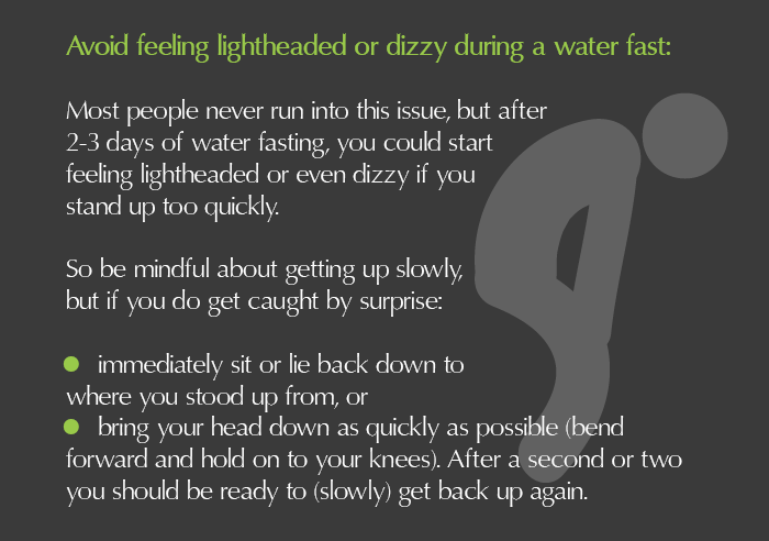 Handling the lightheadedness and dizzyness during water