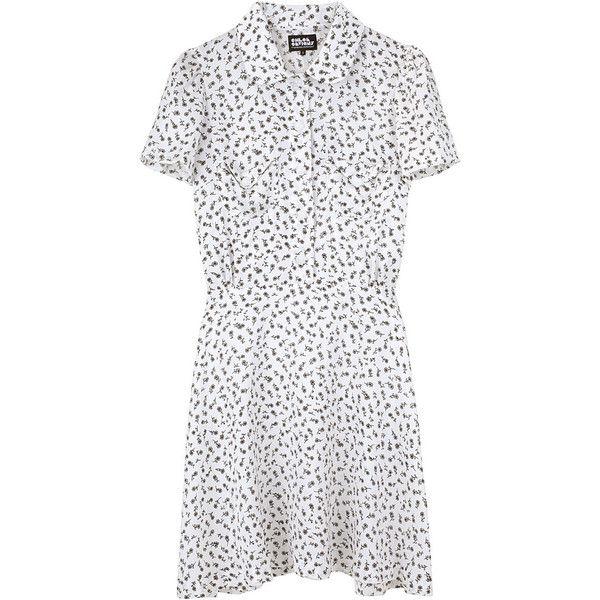 Chloë Sevigny for O.C. / Lesley Flared Dress (€425) ❤ liked on Polyvore featuring dresses, women, skater skirt, floral circle skirt, floral skater skirt, flared skirt dress and flared dresses