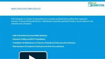 KSR Computer systems is provide Computer AMC Services in Delhi