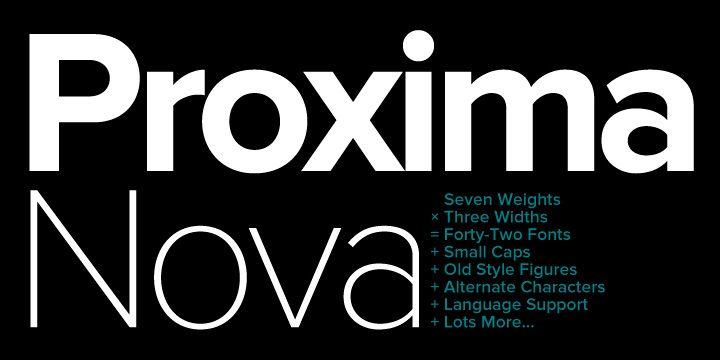 Proxima Nova Webfont Desktop Font Myfonts Popular Fonts Web Font Cool Fonts