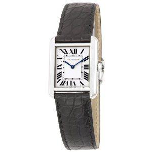Cartier Women's W5200005 Tank Solo Leather Strap Watch (Watch)  http://ruskinmls.com/pinterestamz.php?p=B0036039MM  B0036039MM