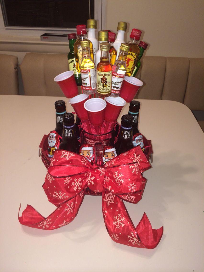 DIY liquor/beer bouquet | Bouquet diy gift, Beer bouquet ...