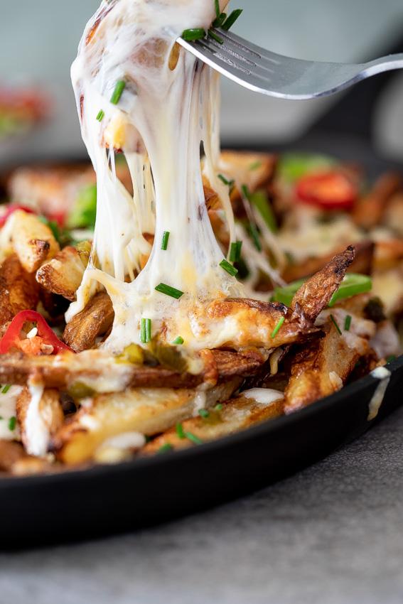 Baked jalapeño cheese fries Recipe Healthy vegan