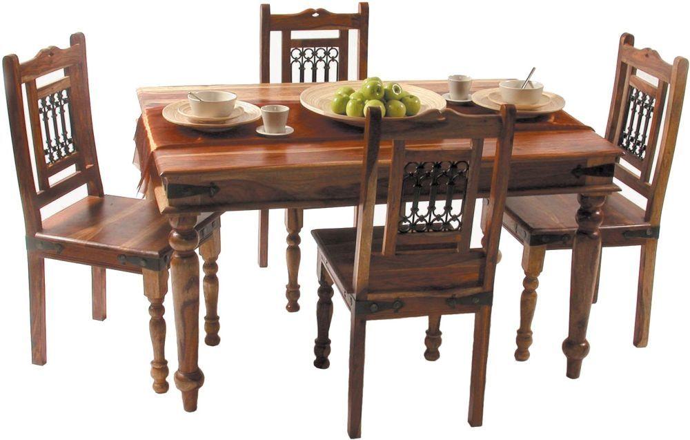Jaipur Jali Sheesham Large Dining Table Dining Table Dining