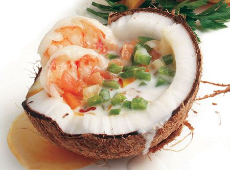 Shrimps in Coconut