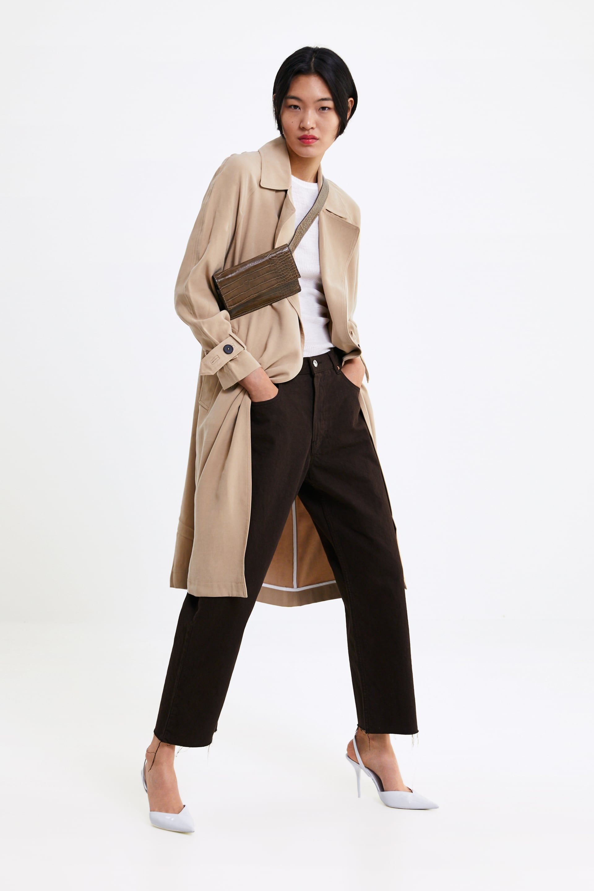7d5fe1aae0 Flowing trench coat with pockets in 2019 | clothes Mar '19 | Coat ...