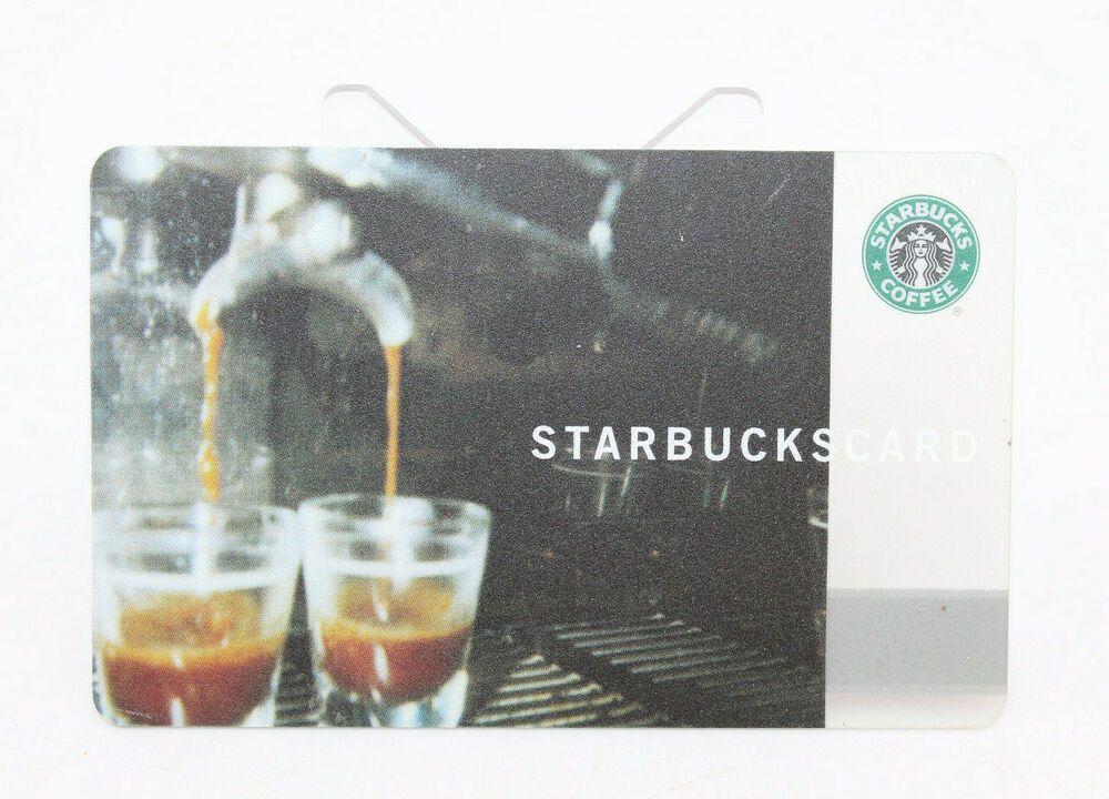 Starbucks coffee 2002 gift card espresso machine cups zero
