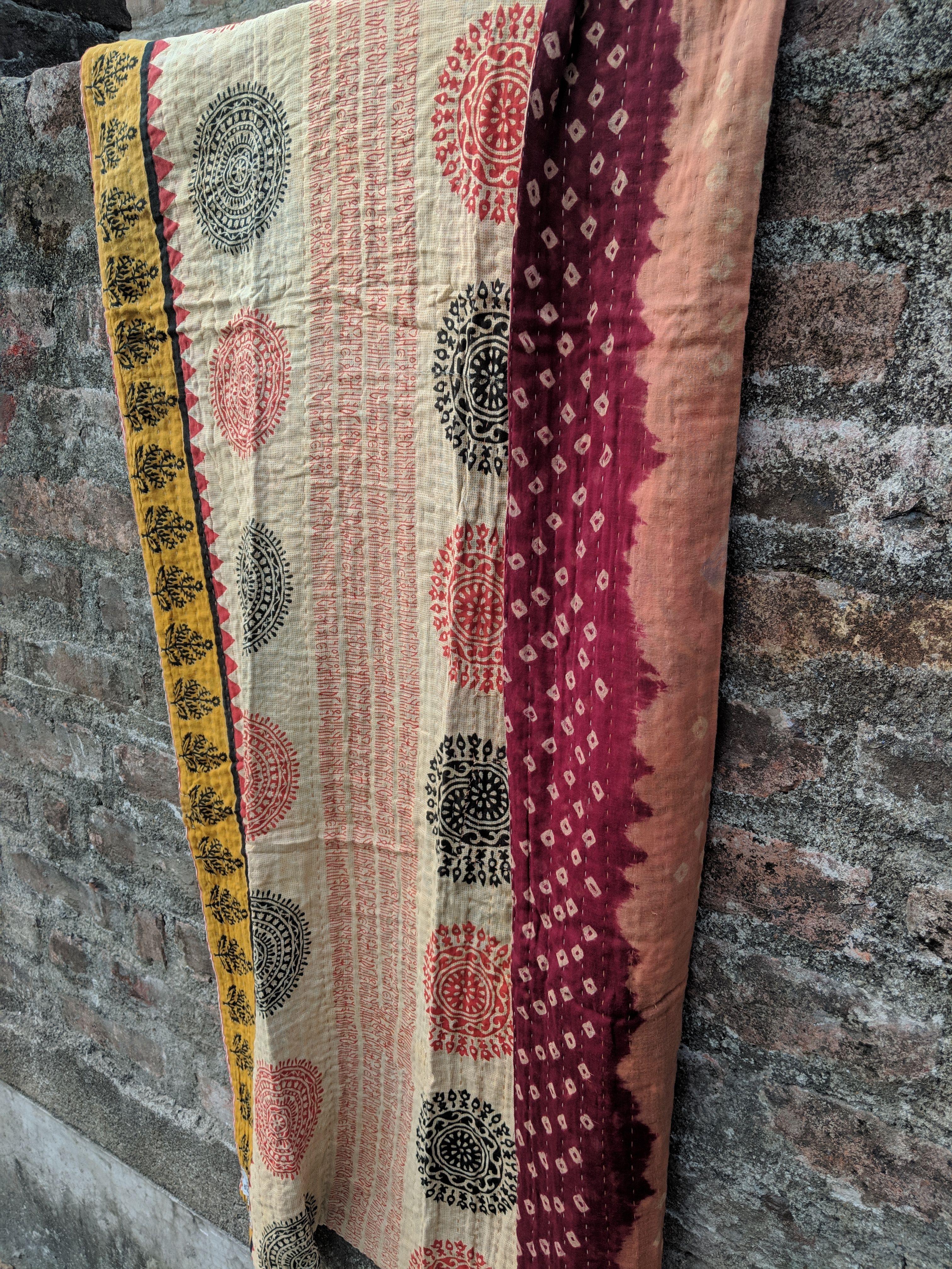Tajmina Blanket Sari Blankets Kantha Blankets Handcraft
