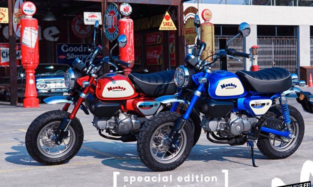 Le Honda Monkey 125 Freddie Spencer De Suwat Mini4temps Fr Le Site Des Passionnes De Mini4temps Honda Et Repliques En 2020 Honda Honda Dax Pirelli