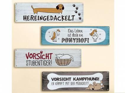 Retro-Schilder Gilde Blechschild: Hunde Weisheiten ...