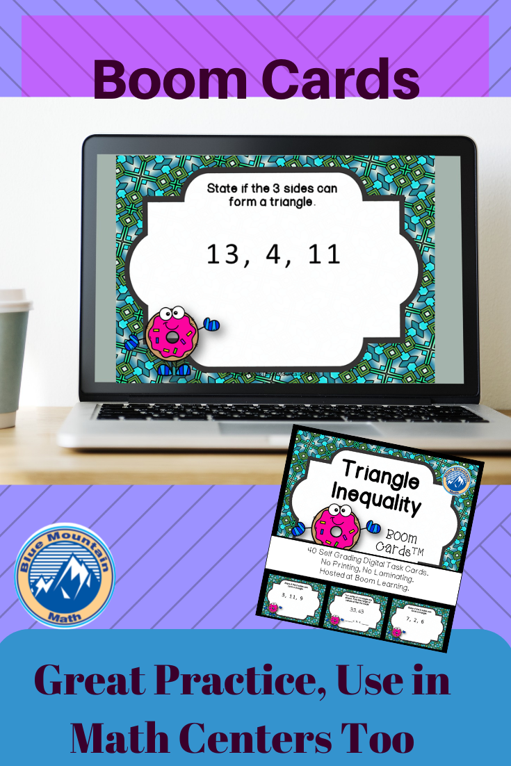 Triangle Inequality Boom Cards Digital Task Cards In 2020 Triangle Inequality Common Core Math Activities Digital Task Cards [ 1102 x 735 Pixel ]