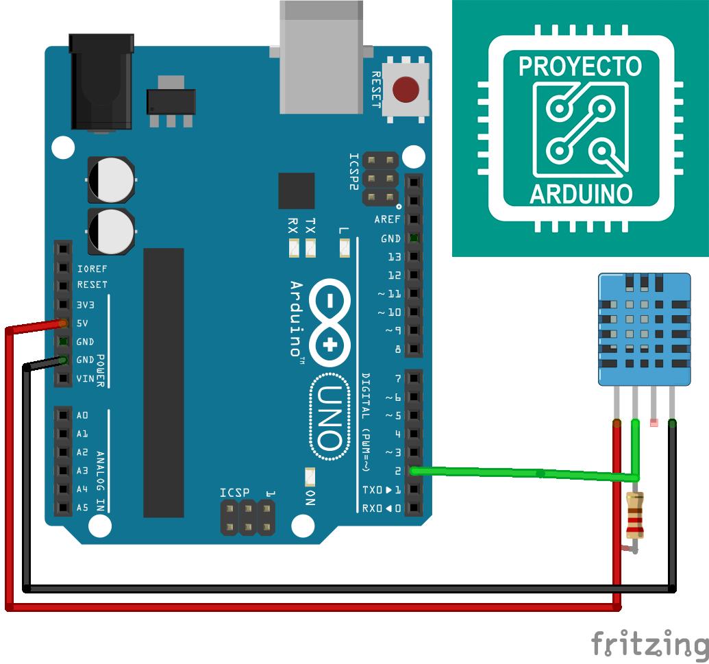 Arduino Uno Con Sensor Dht11 1 Sensor Arduino Sensores