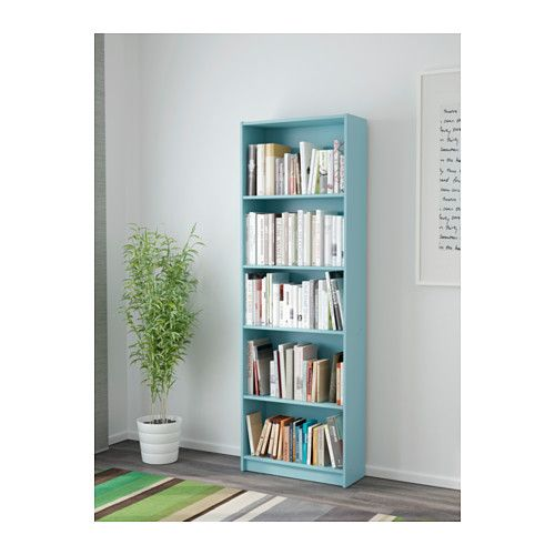 "Blue Bookcase finnby bookcase - light turquoise - ikeawidth: 23 5/8 "" depth: 9 1"