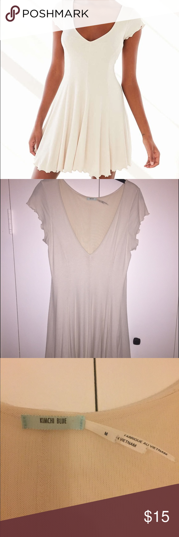 Kimchi Blue Sand Dollar Ribbed Knit T-Shirt Dress Kimchi Blue Sand Dollar Ribbed Knit T-Shirt Dress. Hardly worn. Like new! Soft lining. Super cute and flouncy and bouncy!! Totally casual chic!! Kimchi Blue Dresses Mini