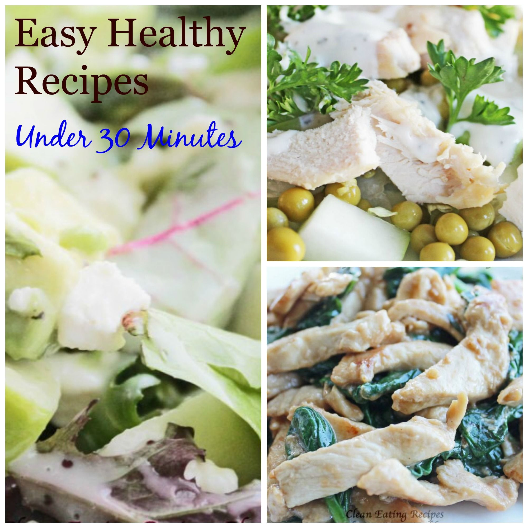 Simple healthy dinner recipes for under 30 minutes - easy healthy recipes for clean eating diet | Enjoy! | #cleaneating #diet #healthyeating #weightlosshelp