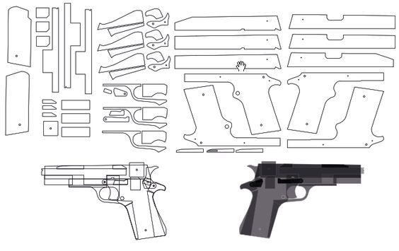 rubber band gun plans free wooden toys pinterest rubber band
