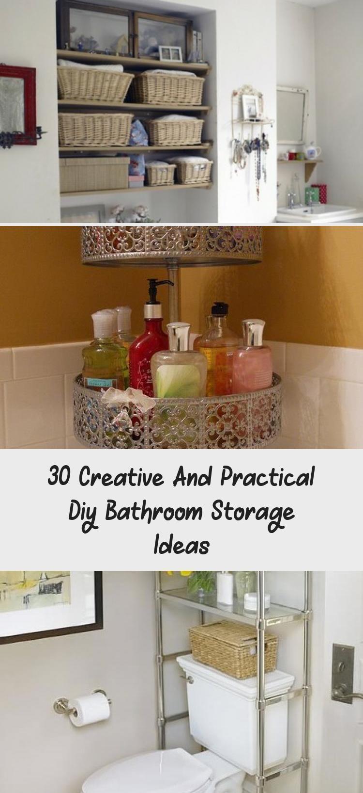 30 Creative And Practical Diy Bathroom Storage Ideas Bathroom